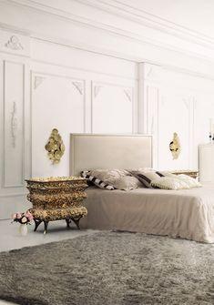 Atemberaubende Master Schlafzimmer Mit Goldenen Akzenten