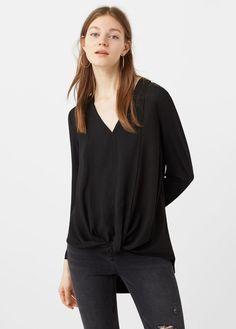 Blouse fluide -  Femme   MANGO France - purple wrap blouse, pink tops and blouses, elegant blouses *sponsored https://www.pinterest.com/blouses_blouse/ https://www.pinterest.com/explore/blouse/ https://www.pinterest.com/blouses_blouse/white-blouse/ http://www.charlotterusse.com/clothes/tops/shirts-blouses