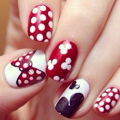 I *love* the Mickey head on the ring finger that's partway off the nail. That's stupid cute.
