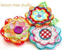 Fresh Picked Flowers Dana Handmade Fabric and by LemonTreeStudio