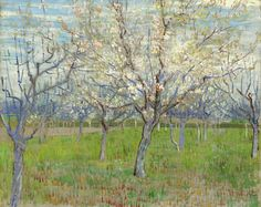 Vincent van Gogh - The Pink Orchard [1888]  [Van Gogh Museum, Amsterdam - Oil on canvas, 65 x 81 cm]
