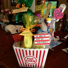 Birthday Idea for Tyler.. all his favorite candy/drink with a sweet note attached! (: