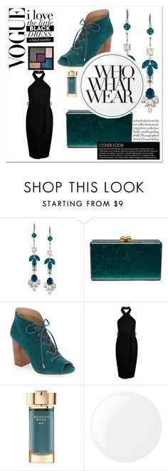 """LBD #40"" by quinn-avina ❤ liked on Polyvore featuring ABS by Allen Schwartz, Edie Parker, Very Volatile, Boohoo, Yves Saint Laurent, Estée Lauder, Essie and Who What Wear"