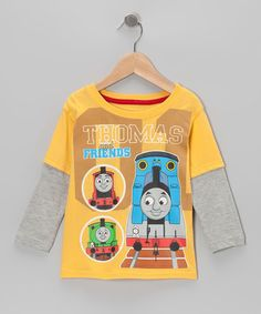 Take a look at this Yellow '01' Thomas Layered Tee - Toddler by Thomas & Friends on #zulily today!