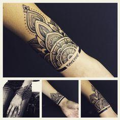 """Ornamental joy #ornamental #mandala #dots #dotwork #orientaltattoo #blackwork #fineline #theliner #tattoodagmar"""