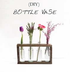 bottle vase. Tools: hand tools + power drill + clamps