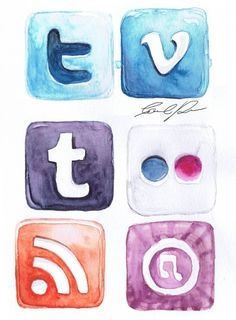 Did you know you can get Social media watercolour icons for free for your #blog ?!  Check it out on lynneknowlton.com