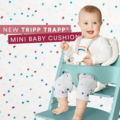 The Stokke Mini Baby Cushion for the Tripp Trapp high chair: Carefully-engineered seams for extra support for your