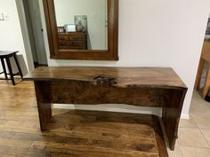 Wilson Live Edge console tsble Live Edge Furniture, Furniture Making, Live Edge Console Table, Dining Table, Spalted Maple, Votive Holder, Conference Table, Mantle, Craftsman