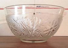 Vintage Clear Sandwich Glass Punch Serving Bowl