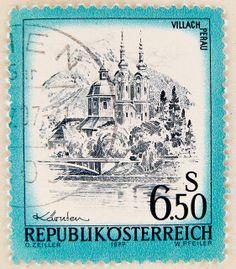 Stamp Austria 650 S Villach Church Perau Carinthia Dealers