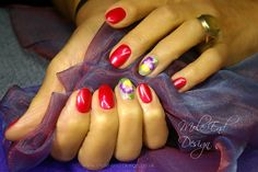 One Stroke Pansies and shellac