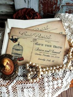 Wedding or Anniversary Save the Date Vintage by AVintageObsession