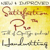 Showcase of typografic inspirations.   Script handwriting font: Satisfaction