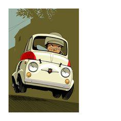 Fiat Cinquecento, Fiat 500c, Fiat Abarth, Fiat 500 Sport, Fiat Cars, Cartoon Toys, Steyr, Car Posters, Car Images