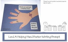 Earth Day Reach Out Writing Prompt Poster