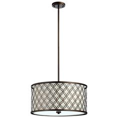 Cyan Design Ceiling Lights Large Byzantine Pendant in Oiled Bronze - 4658