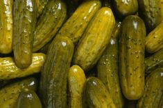 Pickles are often placed on hamburgers and hot dogs. Women also crave pickles while they are pregnant. Additionally, pickles are… Mole, Half Sour Pickles, Canning Dill Pickles, Pickled Tomatoes, How To Make Pickles, Cancer Causing Foods, Marinated Mushrooms, Pregnancy Cravings, Recipes