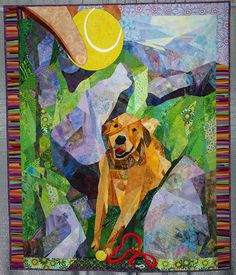 """Old Friend"" by Patrice P Creswell. Excellence in Design.  Austin Area Quilt Guild 2008 show."