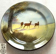 ROYAL DOULTON wild red DEER stag SERIES WARE does CABINET collectors PLATE D4644