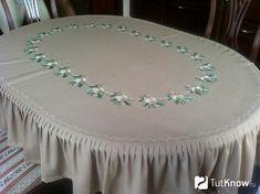 Скатерть на овальный стол