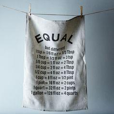 """Framed """"Equal"""" Tea Towel"""