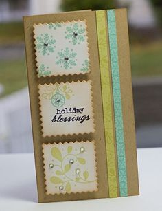 Holiday blessings card by Lisa Johnson for Papertrey Ink (November 2011).