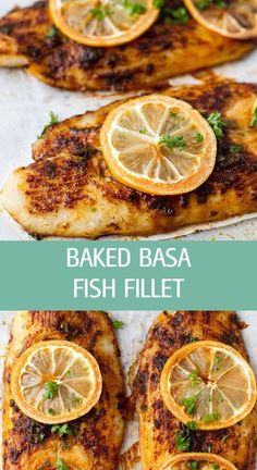 Oven Baked Fish Basa Fillets - Ilona's Passion - Baked basa fish fillet recipe with sweet paprika and basil is the perfect weeknight dinner. Easy an - Fish Filet Recipes, Basa Fillet Recipes, Basa Fish Recipes, Seafood Recipes, Cooking Recipes, Healthy Recipes, Basa Recipe Healthy, Recipes With Fish Fillets, Baked Basa Fillet Recipe