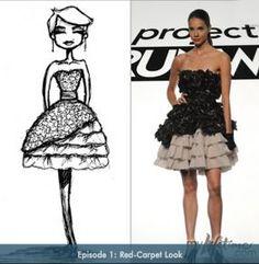 Beatiful Project Runway Dress