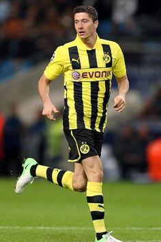 Robert Lewandowski, Borussia Dortmund, Poland, forward. Now with Bayern Munich.