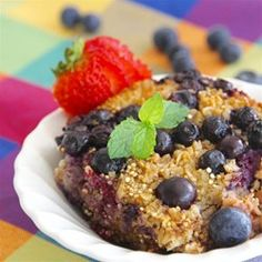 """Berry Baked Oatmeal 