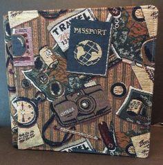 Creative Memories Tapestry Travel Passport 12x12 Album Natural Pages New  | eBay