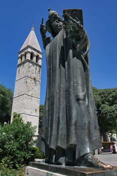 Grgur Ninski statue in Split, Croatia. You're supposed to rub his toe for good luck. I did this in 1998.