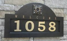 Image result for cedar house numbers
