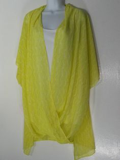 CATHERINES YELLOW WRAP TOP BLOUSE 3X 26-28 PLUS SIZE YELLOW TOP NWT NEW…