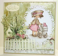HM 9443 Snoesjes Baby  Marianne Dies: LR 0203 Tree  LR 0205 Fence and Birdhouse  LR 0229 Anja Leaves Copic Drawings, Marianne Design, Pop Up Cards, Penny Black, Baby Cards, Bird Houses, Retro Vintage, Daisy, Card Making