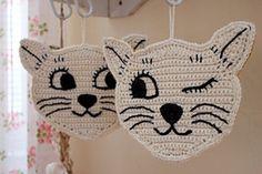 Ravelry: cats crochet potholder