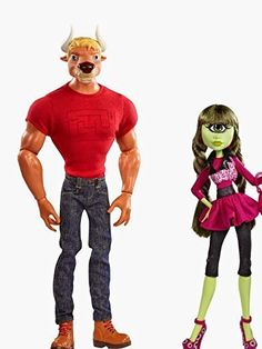 Amazon.com: SDCC 2014 Exclusive Monster High Manny Taur & Iris Clops 2-Pack: Toys & Games