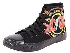 ACDC Original Schuh Rock AC/DC Schuhe Größe 37-47 High Voltage ac dc Rock n Roll High Top von Alsino - http://on-line-kaufen.de/alsino/acdc-original-schuh-rock-ac-dc-schuhe-groesse-37-47
