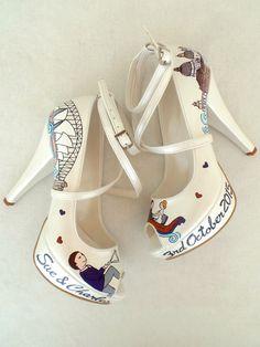 Wedding Shoes  Venice & Sydney  Handpainted Customized