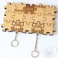 Personalized Wall Key Holder Wall Key Holder Puzzles by Oksis