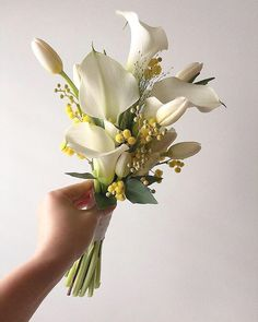 Hand Bouquet Wedding, Small Wedding Bouquets, Bride Bouquets, Floral Wedding, Wedding Flowers, Calla Lily Wedding, Calla Lily Bouquet, Tulip Bouquet, Floral Bouquets