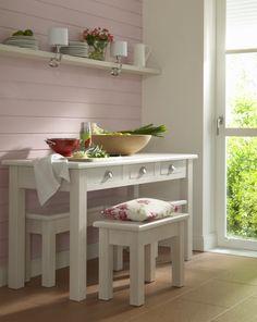 Mesa decapada y patinada patinados pinterest mesas - Soluciones cocinas pequenas ...