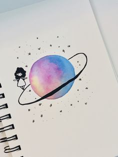 planets space easy drawing sketches drawings oil pastel dream around planet painting sketching