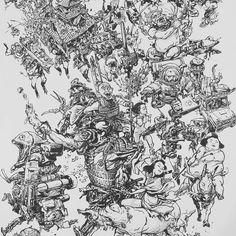 Kim Jung Gi print for NYCC - Instagram