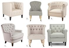 Tufted Linen Chairs for Under $300.00!