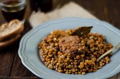 Stufato di maiale con lenticchie- Pork with lentils stew, a guest post to @Sonia M