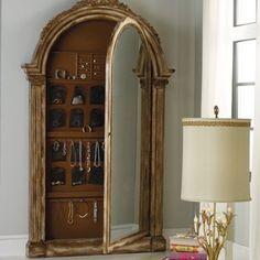 Hooker Furniture Melange Vera Floor Mirror with Jewelry Armoire Storage Hooker Furniture, Large Furniture, Bedroom Furniture, Bedroom Decor, Accent Furniture, Furniture Design, Luxury Furniture, Antique Furniture, Futuristic Furniture