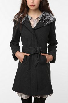 black coat from urban outfitters
