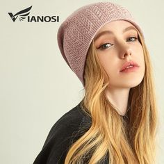 VIANOSI Winter Knitted Wool Hat For Women Warm Casual Beanie Caps Winter  Brand Gorros Mujer Invierno Fashion Hats 0f87663c1b3